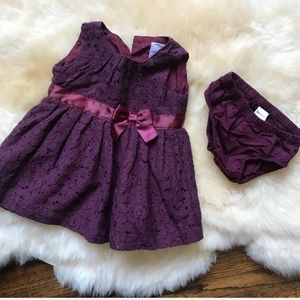 Carter's Lace dress with diaper cover infant 3mo